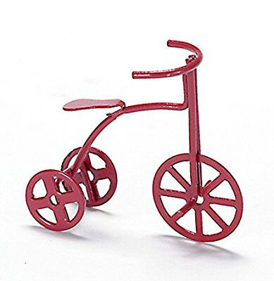 Dolls House Miniature 1:12th Scale Red Tricycle