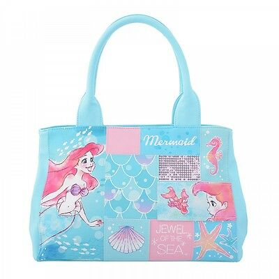 Disney Little Mermaid Ariel & Sebastian Tote Bag from Japan New!