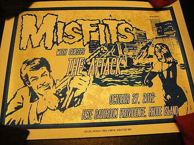 MISFITS 2012 Rhode Island Show LTD ED Signed Poster Print ONLY 40 MADE ~ DANZIG