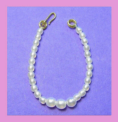 Dreamz WHITE Graduated Pearl Necklace Vintage REPRO Barbie Doll Jewelry