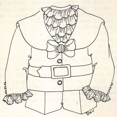 "Period clothes BOY outfit French German Victorian PATTERN for a 12"" 13"" Doll 297"