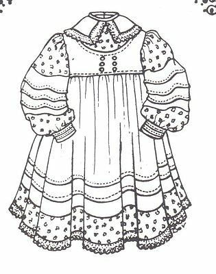 "SEWING PATTERN fits 15 16 "" DOLL dress clothes outfit German country 528"
