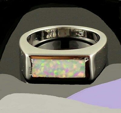 New Size 6 1/4 Ring + Free Gift Box! Passion Opal And Silver. Free Usa S&h 6.25
