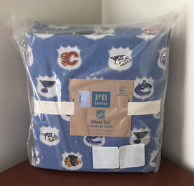 Pottery Barn Teen NHL Sheet Set~Western Conference~Queen