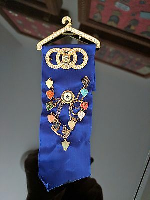 American Legion Auxiliary Past President badge ribbon + 60 years membership pins