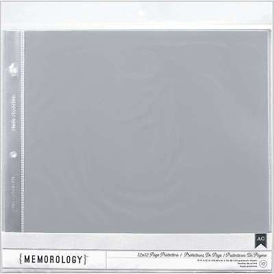 "American Crafts Page Protectors Top-Loading 12""X12"" 10/Pkg (1) 12 718813767118"