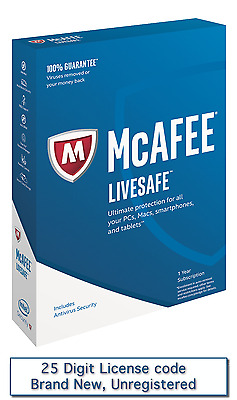 Mcafee Livesafe 2017 | 1 Year | Unlimited Device | Online Delivery | Brand New