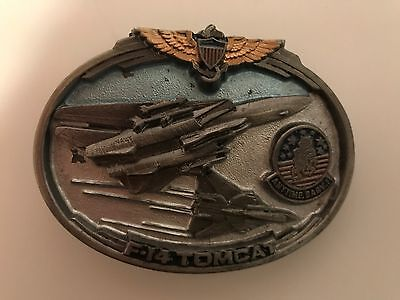 F-14 Tomcat Belt Buckle Navy Airforce Fighter Jet Military Aircraft Eagle Wings