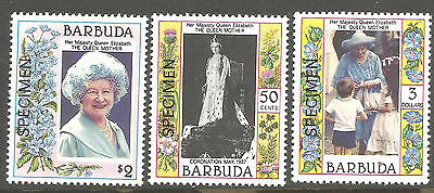 Barbuda 1985 85th Queen Elizabeth the Queen Mother, 1st Issue Stamps, Specimens