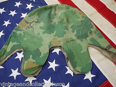 US Army M-1 Cover Vietnam War Era Twill Cotton Pattern Dated Early 1966