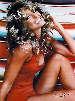 "Farrah Fawcett Red Swimsuit Publicity 10"" x 13.5""  Advertisement Poster Print"