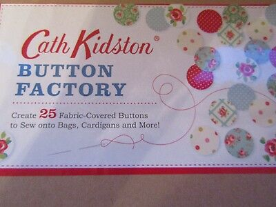 Cath Kidston Button Factory Create 25 Fabric - Covered Buttons New
