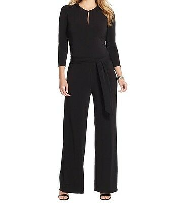 New Plus Size Ralph Lauren Black Jersey Keyhole Jumpsuit Career Dinner $165 3X