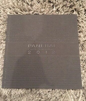 Panerai  Watch  Catalogue  2012 Brand New Unread Brochure