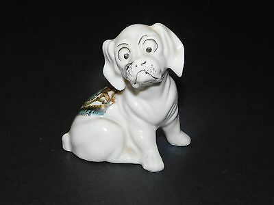 Gemma Crested China Comical Dog With Fly On Nose Plymouth Coat Of Arms
