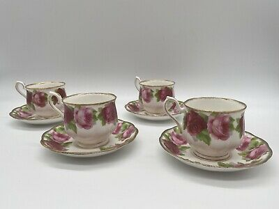 "ROYAL ALBERT ""Old English Rose"" Floral Bone China Tea Cup & Saucer"