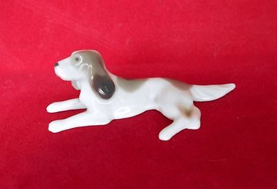 Small Old Fine Porcelain Irish Red White Setter Figurine Germany Metzler Ortloff