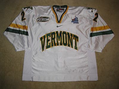 University of Vermont UVM Catamounts Game Used Worn Hockey Jersey, Frozen Four