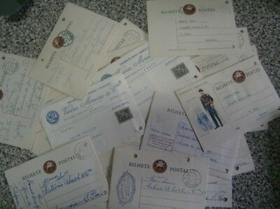 Lot of 100 Portugal 50's Stationery Postal cards