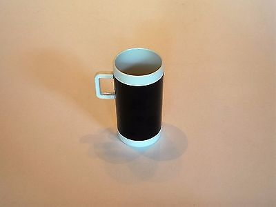 Vintage Braniff International Airlines Black And White Coffee Expresso Cup Mug