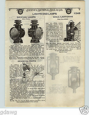1924 PAPER AD Dietz Union Driving Car Auto Lamp Lamps Wall Lantern Street Light