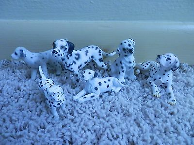 """Lot  Dalmation toys dogs play figures 6 piece 1""""-4"""""""