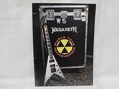 W5 MEGADETH  CRYPTICWRITINGS  World Tour 1997 Concert Tour Program Book