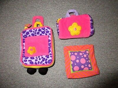Groovy Girls Doll Clothes Travel Accessories Suitcase Bag Pillow  Lot M4