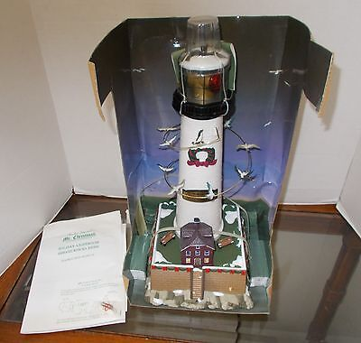 Mr. Christmas Holiday Lighthouse With Sea Sounds New