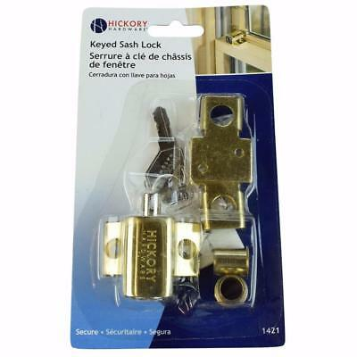 "#1421-645 Sash Lock ""Keyed-Alike"" for Wood Window, Polished Brass, First Watch"