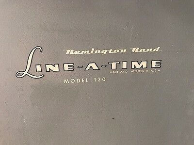 Vintage Remington Rand Line A Time Metal Copy Holder Typewriter Model 120