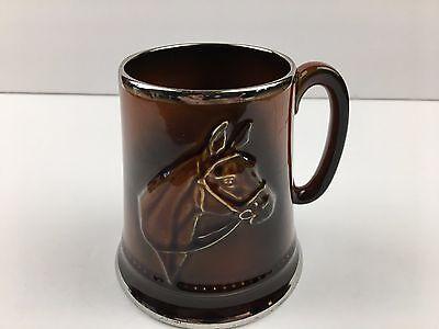 Vintage SYLVAC Horse #2343 Ceramic Coffee Mug Beer Stein Made in ENGLAND