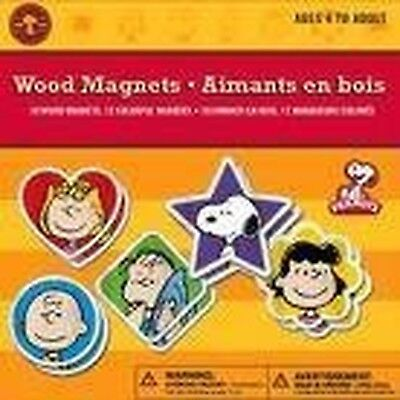 NEW Colorbok Peanuts Wood Magnets