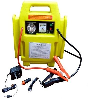 12V Battery Car Jump Start Starter Portable Air Compressor Booster Charger Leads