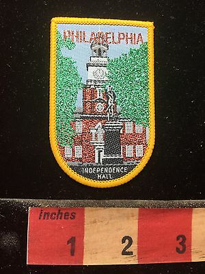 Philadelphia INDEPENDENCE HALL Pennsylvania Woven Patch 74WY
