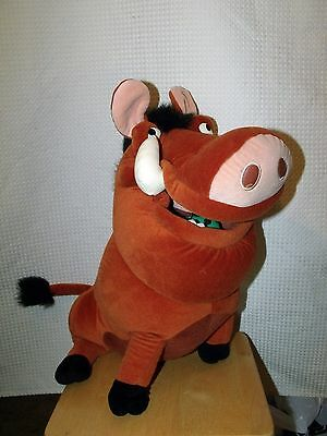 "Disney The Lion King Plush 15"" Pumba The Warthog With One Bug"