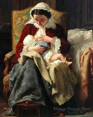 Maternity by Jules Trayer Victorian Mother Child Breastfeeding 8x10 Print 1049