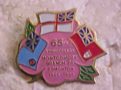 Edmonton Montgomery 65Th Anniversary  Royal Canadian Legion Branch 24 Lapel Pin
