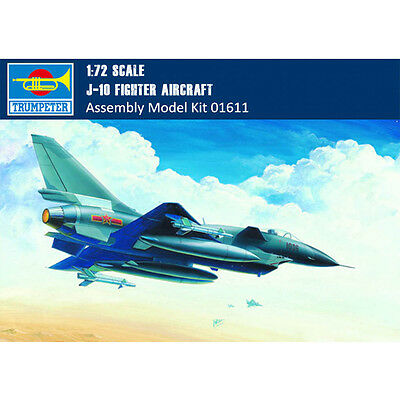 Trumpeter 01611 1/72 Scale Chinese J-10 Fighter Assembly Aircraft Model Kits