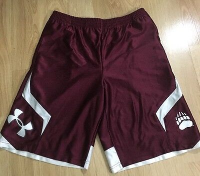 Under Armour Montana Grizzlies Shorts Youth XL Maroon And White