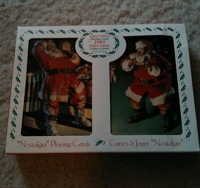 """1993 Coca-Cola Limited Edition """"Nostalgia"""" Playing Cards. New & Sealed"""