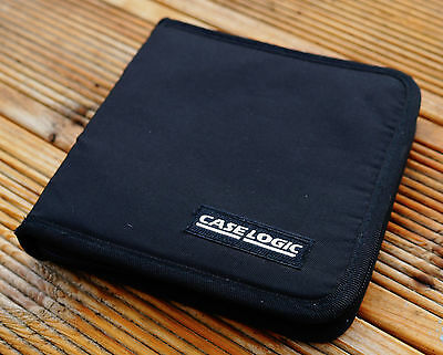 CASE LOGIC Software CD DVD Disc Storage Case Wallet Black 12 Disc Capacity