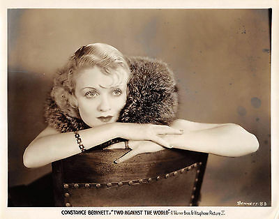 "CONSTANCE BENNETT vintage 1932 8x10 pre-code ""Two Against The World"" photo"