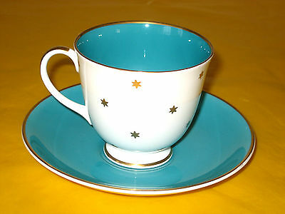 SUSIE COOPER GOLD STAR TEA CUP&SAUCER scratches&flaw ,  (0.25/112A )