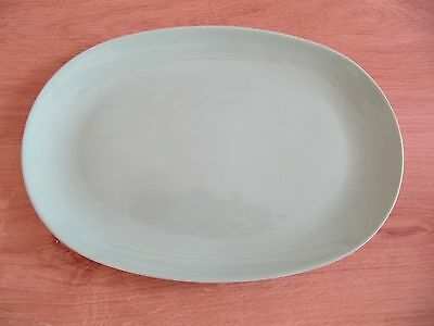 """RARE BRANKSOME MEAT/FISH/SERVING LIGHT BLUE OVAL PLATE, long 11.75"""", in VGC"""