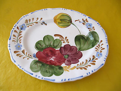 """SIMPSONS BELLE FIORE MEAT/FISH PLATE/DISH 10""""x 8.25"""",small cutlery mark"""