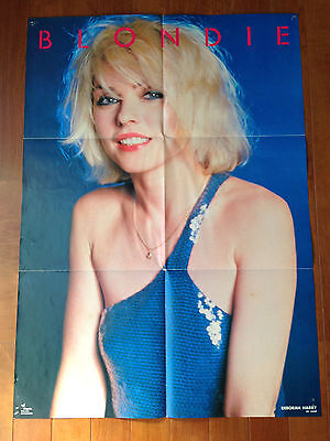 BLONDIE Debbie Harry Deborah Poster JAPAN 1980 + SUNDAY GIRL 7 inch single