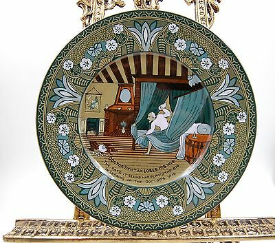 Antique Deldare Ware Charger Plate  By Buffalo Pottery ...