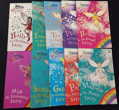 Lot of 10 RAINBOW MAGIC BOOKS FREE POST Fairy