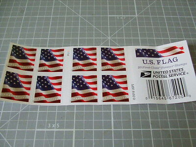 US FLAG Limited Ed. Forever Stamps Sheet (20- Stamps total) 2017